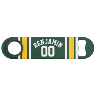 Sports Team Football Jersey Custom Name Number Speed Bottle Opener