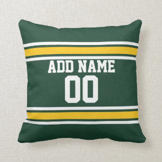 Sports Team Football Jersey Custom Name Number Throw Pillow