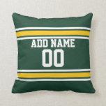 Sports Team Football Jersey Custom Name Number Throw Pillows