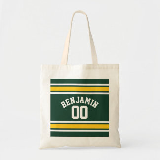 Sports Team Football Jersey Custom Name Number Tote Bag