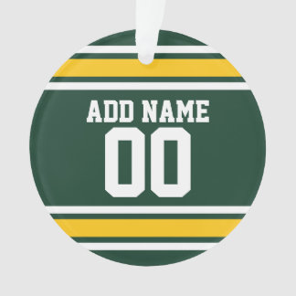 Sports Team Football Jersey Custom Name Ornament