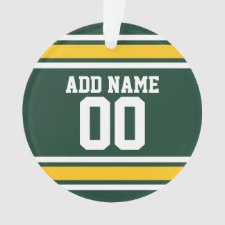 Sports Team Football Jersey Custom Name Ornament