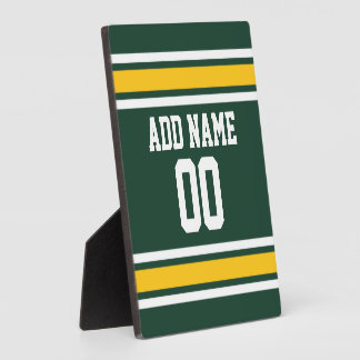 Sports Team Football Jersey Custom Name Display Plaque