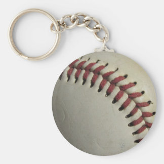 Sports Team Game Ball Baseball Field Coach Art Basic Round Button Keychain