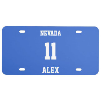Sports Team Jersey Personalizable Asparagus License Plate