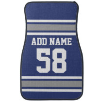 Sports Team Jersey with Custom Name and Number Car Floor Mat