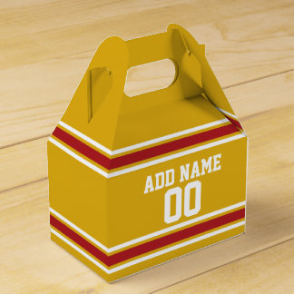 Sports Team Jersey with Custom Name and Number Favor Box