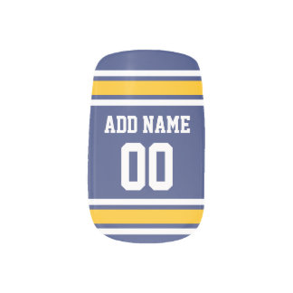 Sports Team Jersey with Custom Name and Number Minx® Nail Wraps