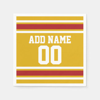Sports Team Jersey with Custom Name and Number Paper Napkin