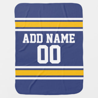 Sports Team Jersey with Custom Name and Number Swaddle Blanket