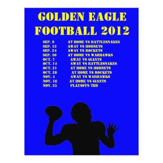 Sports team schedule flyer