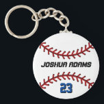 "Sports Team White Baseball Keychain<br><div class=""desc"">A cool and colorful sports theme keychain as gift for families and friends. Baseball keychain with personalized name and player number. A great souvenir for baseball coach,  captain and players. You can customize the ball color to the color you want.</div>"