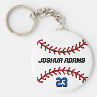 Sports Team White Baseball Keychain