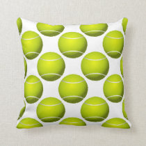 sports tennis balls throw pillow