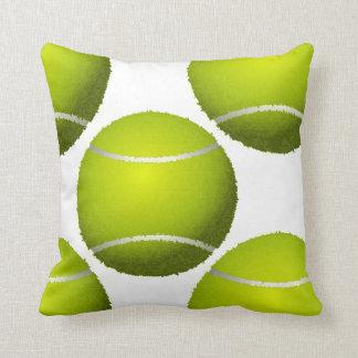 sports tennis balls throw pillow