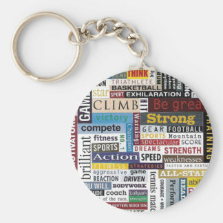Sports, Tennis, Basketball, Football Keychain