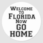 Sports Text Welcome To Florida go hme Sticker