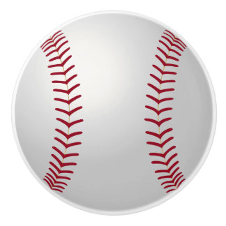 Sports Theme Baseball Ceramic Knob