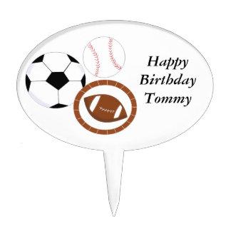 Sports Theme Cake Topper
