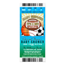 Sports Theme Party Baby Shower Invitation