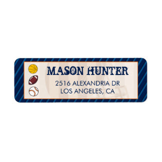 Sports Themed address Mailing Labels