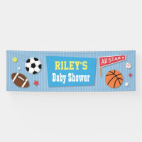 Sports Themed Baby Shower Banner