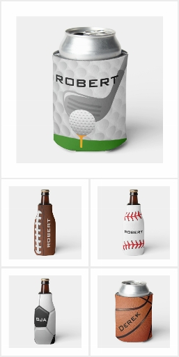 Sports-Themed Beverage Can & Bottle Coolers