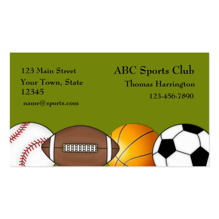 Sports Themed Business Card