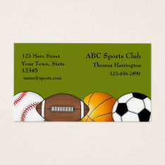 Sports Themed Business Card at Zazzle