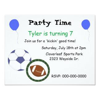 Sports Themed Party Invitation