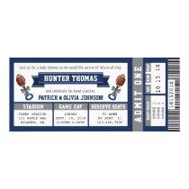 Sports Ticket Baby Shower Invitation, Blue, Gray Invitation
