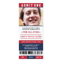 Sports Ticket Bachelor Party Invites