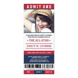 Sports Ticket Bachelorette Party Invites