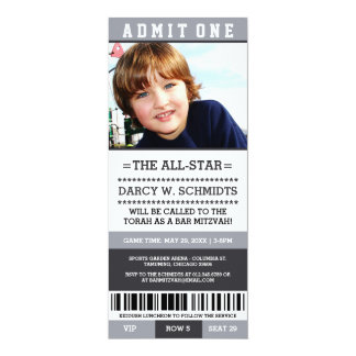 Sports Ticket Bar Mitzvah Invites