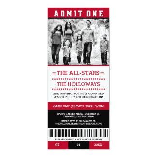 Sports Ticket July 4th Invites