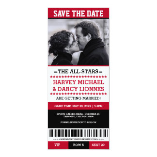 Sports Ticket Save the Date Card