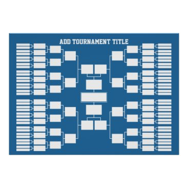 Art Themed Sports Tournament Bracket for 64 Teams Poster