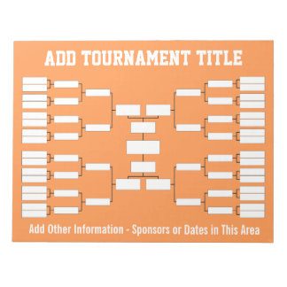 Sports Tournament Bracket Notepad