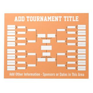 Sports Tournament Bracket Memo Pads