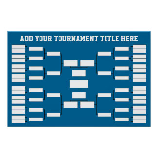 Sports Tournament Bracket Poster