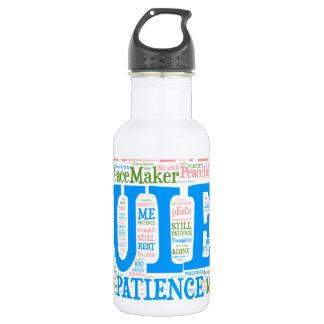 Sports Water Bottle,Wordart_Cloud_Serenity_2.png Stainless Steel Water Bottle