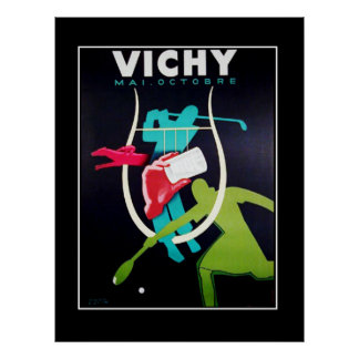 Sports Week Vintage Vichy France Poster