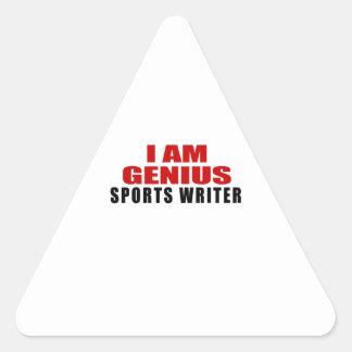 SPORTS WRITER DESIGNS TRIANGLE STICKER