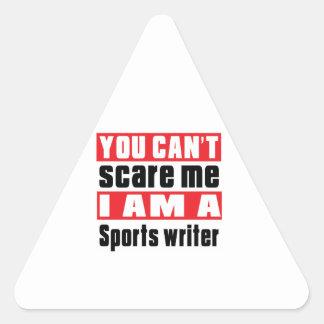 Sports writer scare designs triangle sticker