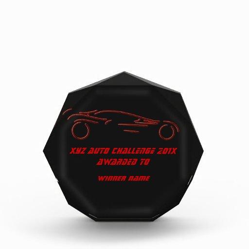 Sportscar estilizado - diseño auto de neón rojo qu