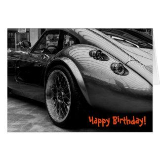 Sportscar Happy Birthday Greeting Card