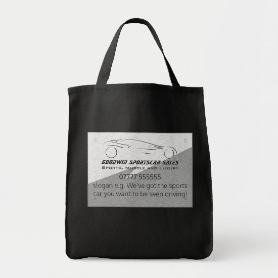 Sportscar Sales giveaway, metal-look, silver logo Tote Bag