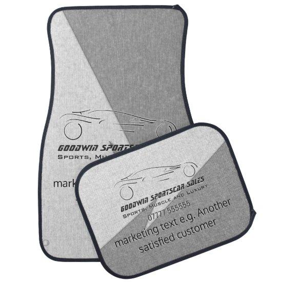 Sportscar Sales - metal, silver auto Showroom Car Mat
