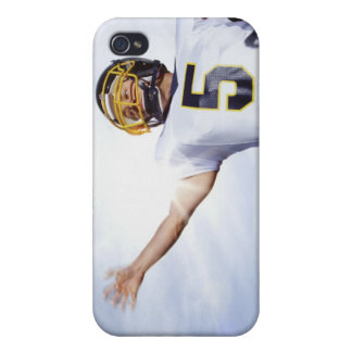 sportsman playing with rugby ball iPhone 4/4S cover
