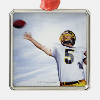 sportsman playing with rugby ball christmas tree ornament